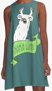 Llama Drama A Line Dress