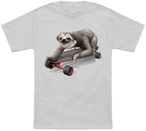 Sloth On A Skateboard T-Shirt