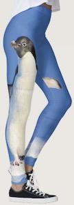 Blue Penguin Leggings