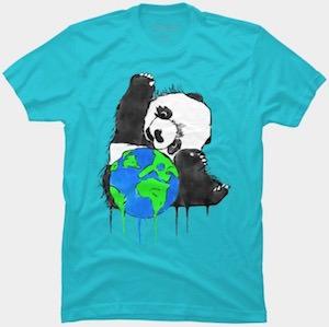 Panda Bear And Earth T-Shirt