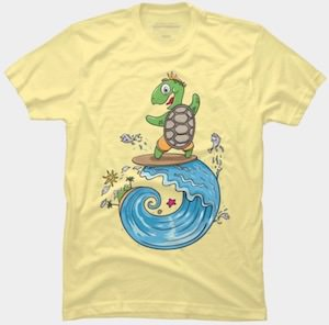 Surfing Turtle T-Shirt
