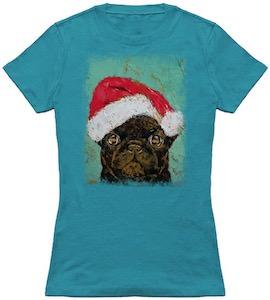 Santa Pug Christmas T-Shirt