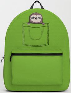 Sloth Backpack Sleep Pocket