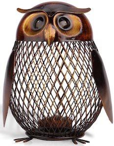 Metal Owl Money Bank