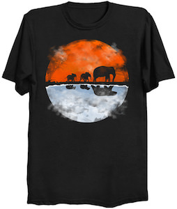 Elephants Reflecting Into Polar Bears T-Shirt