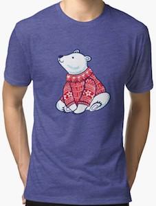 Polar Bear Wearing A Christmas Sweater T-Shirt