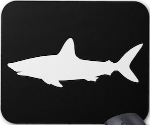 Shark Silhouette Mousepad