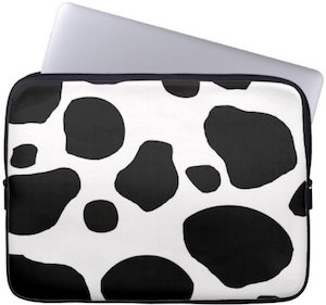Cow Print Laptop Bag