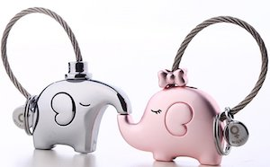 Elephant Couples Keychains