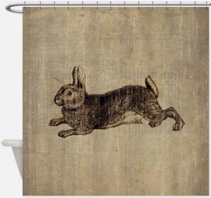 Classic Rabbit Shower Curtain