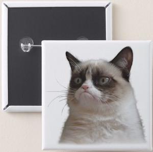 Grumpy Cat Button