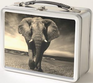 Metal Elephant Lunch Box for sale now