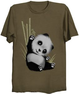 Waving Baby Panda T-Shirt