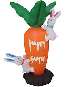Easter Carrot And Bunny Inflatable