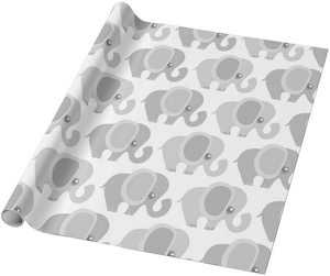 Lots Of Elephants Wrapping Paper