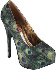 Peacock Feather High Heels
