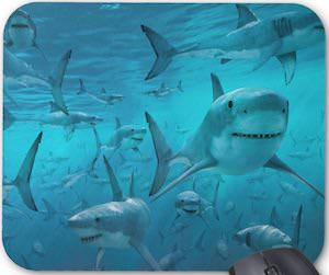Shark Infested Waters Mousepad