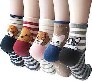 Women's Puppy Socks (5 pairs)