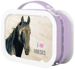 I Love Horses Lunch Box