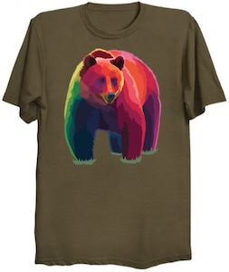 Artsy Grizzly Bear T-Shirt