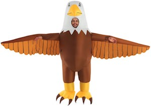 Inflatatable Bald Eagle Costume