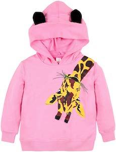 Kids Pink Giraffe Hoodie