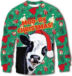 Moo-Ry Christmas Sweater