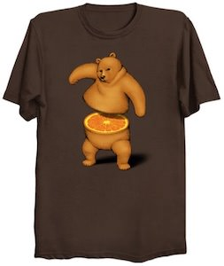 Orange Bear T-Shirt
