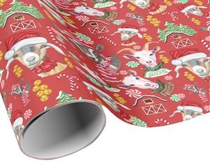 Goats Christmas Wrapping Paper