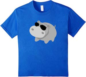 Hippo Wearing Glasses T-Shirt