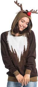 Red Nosed Reindeer Christmas Sweater Hoodie