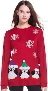 Women's Fun Penguins Christmas Sweater