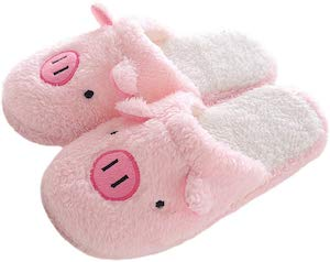 Fluffy Pig Slippers