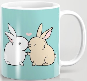 Kissing Bunnies Mug