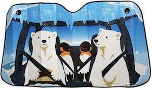 Polar Bear And Penguin Road Trip Car Sun Shade