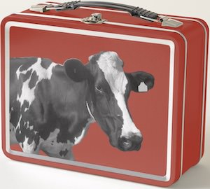 metal Cow Lunch Box