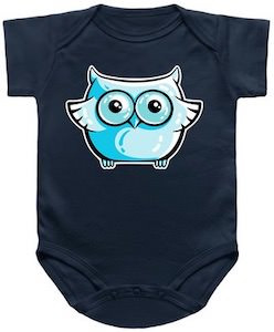 Blue Owl Baby Bodysuit