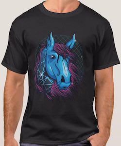 Blue And Purple Horse T-Shirt