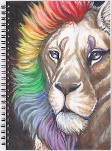 Rainbow Lion Notebook