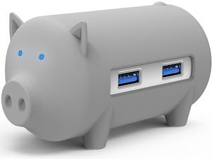 Pig USB Hub And Card Reader