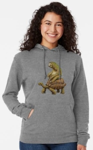 Sloth Riding Turtle Hoodie