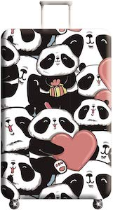 Panda Love Suitcase Cover