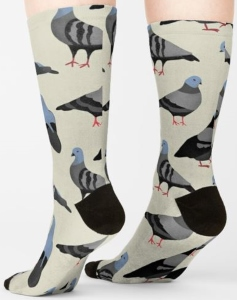 Pigeons All Over Socks