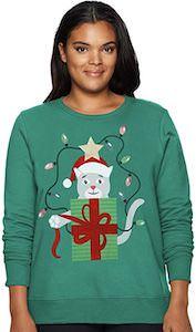 Cat Present Women's Christmas Sweater