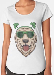 St Patrick's Day Dog T-Shirt