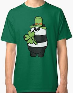 St Patrick's Day Panda T-Shirt