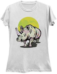 Rhino At Sunset T-Shirt