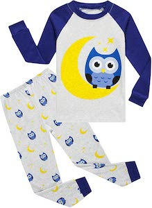 Kids Owl And The Moon Pajama Set