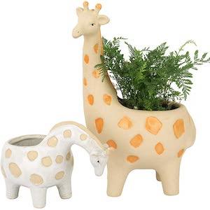 Ceramic Giraffe Planters