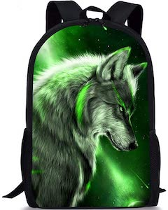 Wolf And Northern Lights Backpack
